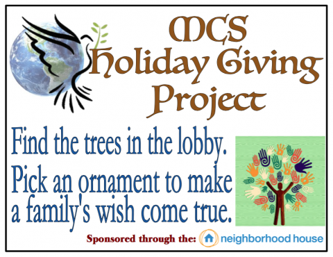 MCS' Holiday Giving Project Through The Neighborhood House