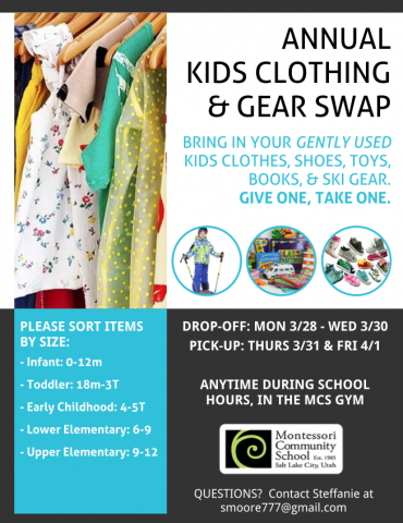 Annual Kids Clothing & Gear Swap
