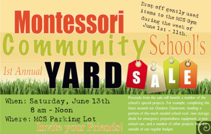 1st Annual MCS Yard Sale