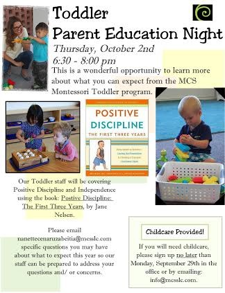 Upcoming Parent Education Night